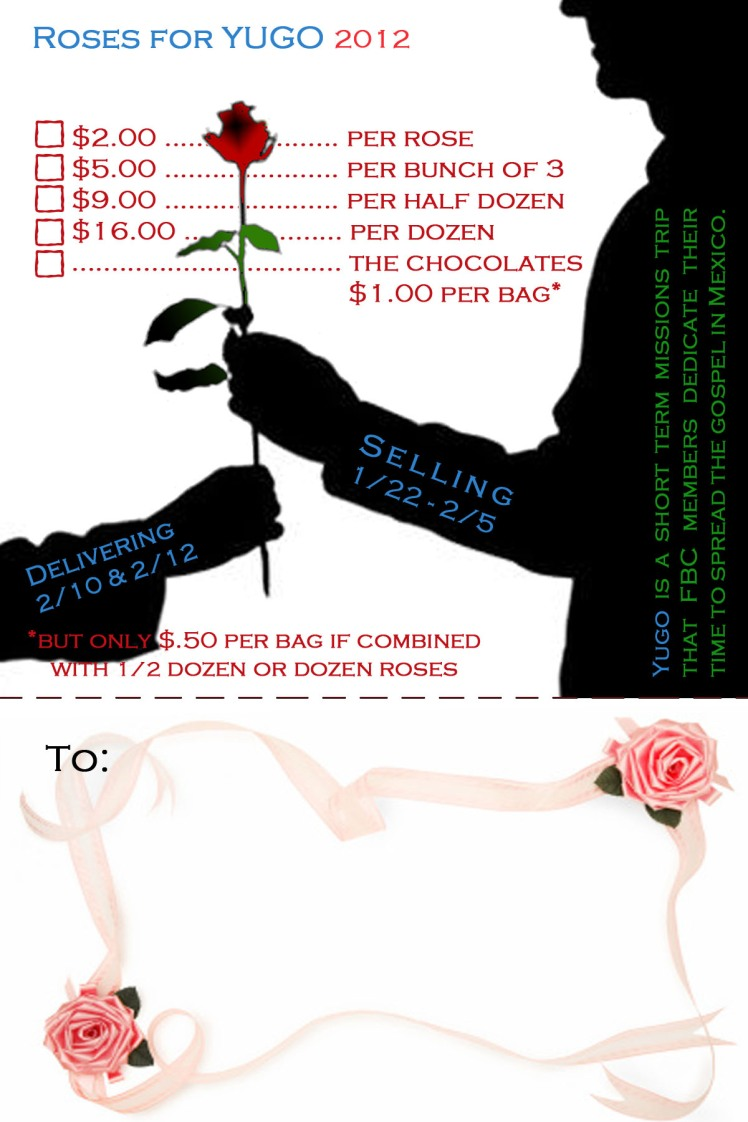 Buy Roses For A Great Cause!!