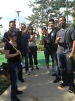 Mini Golfing after Volunteering